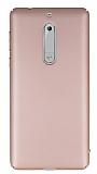 Nokia 5 Tam Kenar Koruma Rose Gold Rubber Kılıf