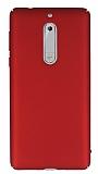 Nokia 5 Tam Kenar Koruma Kırmızı Rubber Kılıf
