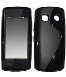 Nokia 500 Desenli Siyah Silikon Kılıf