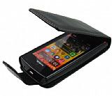 Nokia 500 Kapakl� Siyah Deri K�l�f