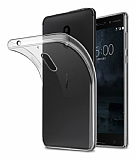 Nokia 6 2018 Ultra İnce Şeffaf Silikon Kılıf