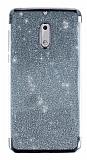Nokia 6 Simli Siyah Silikon Kılıf