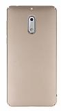 Nokia 6 Tam Kenar Koruma Gold Rubber Kılıf