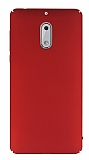 Nokia 6 Tam Kenar Koruma Kırmızı Rubber Kılıf
