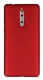 Nokia 8 Mat Bordo Silikon Kılıf