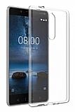 Nokia 8 Ultra İnce Şeffaf Silikon Kılıf