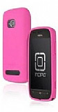 Nokia Asha 303 Pembe Silikon K�l�f