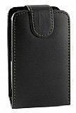 Nokia C3 Kapakl� Siyah Deri K�l�f