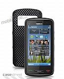 Nokia C6-01 Siyah Delikli K�l�f