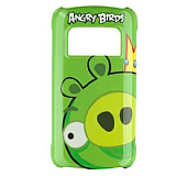 Nokia C6-01 Orjinal Angry Birds Ye�il Sert Rubber K�l�f