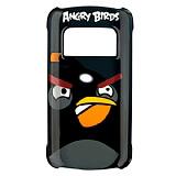 Nokia C6-01 Orjinal Angry Birds Siyah Sert Rubber K�l�f