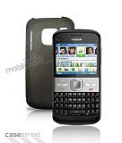 Nokia E5 �effaf Siyah Silikon K�l�f