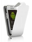 Nokia E5 Beyaz Kapakl� Deri K�l�f