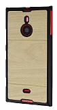 Nokia Lumia 1520 Ah�ap G�r�n�ml� Sar� Rubber K�l�f