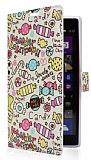 Nokia Lumia 1520 Candy Standl� C�zdanl� Deri K�l�f