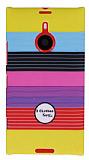 Nokia Lumia 1520 Renkli �izgili Sert Mat Rubber K�l�f