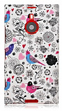 Nokia Lumia 1520 Bird Sert Mat Rubber K�l�f