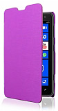 Nokia Lumia 625 �nce Yan Kapakl� Mor K�l�f