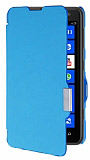 Nokia Lumia 625 �nce Yan Kapakl� Mavi K�l�f