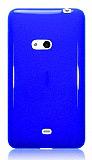 Nokia Lumia 625 Mavi Silikon K�l�f