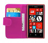 Nokia Lumia 720 Yan Cüzdanlı Pembe Kılıf