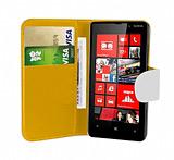 Nokia Lumia 820 Beyaz Yan Cüzdanlı Kılıf