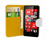 Nokia Lumia 820 Beyaz Yan C�zdanl� K�l�f