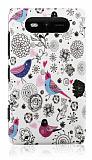 Nokia Lumia 820 Bird Sert Mat Rubber K�l�f