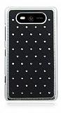 Nokia Lumia 820 Ekose Ta�l� Siyah Sert Rubber K�l�f