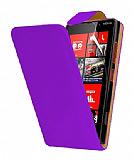 Nokia Lumia 820 Mor Kapakl� Deri K�l�f