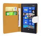 Nokia Lumia 920 Beyaz Yan Cüzdanlı Kılıf