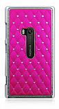 Nokia Lumia 920 Ekose Ta�l� Pembe Sert Rubber K�l�f