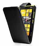 Nokia Lumia 920 Kapakl� Siyah Deri K�l�f