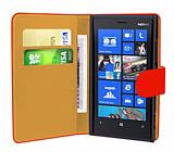 Nokia Lumia 920  K�rm�z� Yan C�zdanl� K�l�f