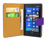 Nokia Lumia 920  Mor Yan C�zdanl� K�l�f