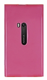 Nokia Lumia 920 �effaf Pembe Silikon K�l�f