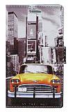 Nokia Lumia 920 Sar� Taksi C�zdanl� Yan Kapakl� Deri K�l�f
