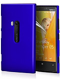 Nokia Lumia 920 Sert Mat Mavi Rubber K�l�f