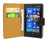 Nokia Lumia 920  Siyah Yan C�zdanl� K�l�f