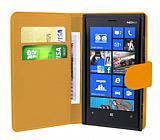 Nokia Lumia 920  Turuncu Yan C�zdanl� K�l�f