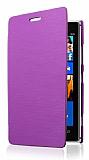 Nokia Lumia 925 �nce Yan Kapakl� Mor K�l�f