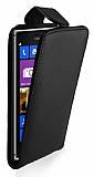 Nokia Lumia 925 Dik Kapakl� Siyah Deri K�l�f