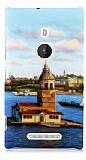 Nokia Lumia 925 K�z Kulesi Sert Mat Rubber K�l�f