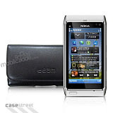 Nokia N8 Yan Siyah Deri K�l�f