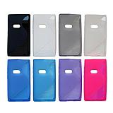 Nokia N9 Desenli Mavi Silikon K�l�f