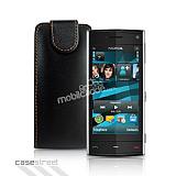 Nokia X6 Siyah Kapakl� Deri K�l�f