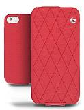 Noreve iPhone SE / 5 / 5S Tradition Couture Kırmızı Kapaklı Deri Kılıf