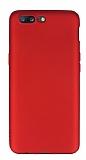 OnePlus 5 Mat Kırmızı Silikon Kılıf