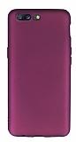 OnePlus 5 Mat Mor Silikon Kılıf
