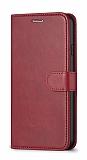 Oppo A12 Cüzdanlı Kapaklı Kırmızı Deri Kılıf
